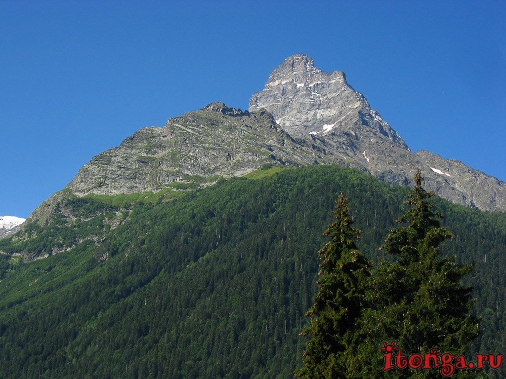 Кавказ, пейзажи, достопримечательности, горы