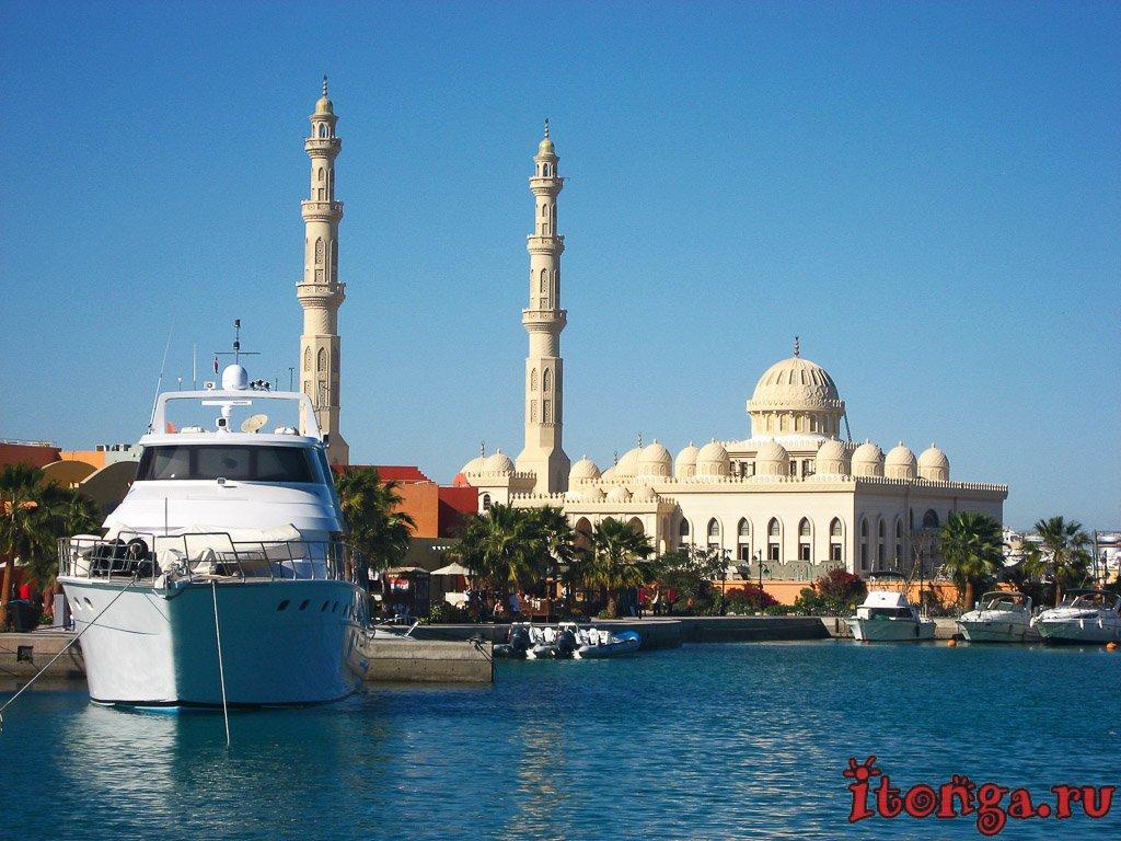 Хургада, марина, набережная, Египет, мечеть Эль-Мина