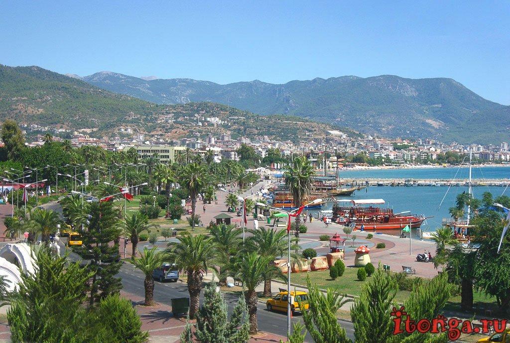 порт Алании, Аланья, гавань, пиратские корабли, Турция,