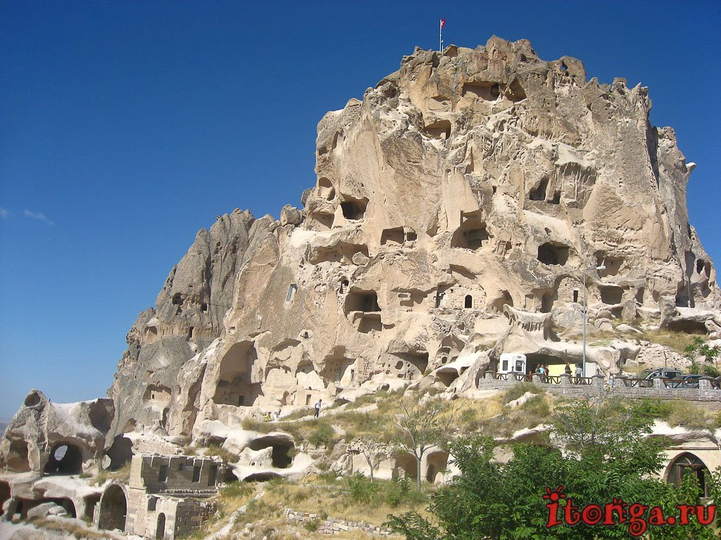 крепости Каппадокии, Турция, Учхисар