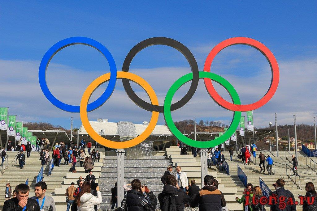 Олимпийский парк, Сочи, Адлер, олимпийские кольца