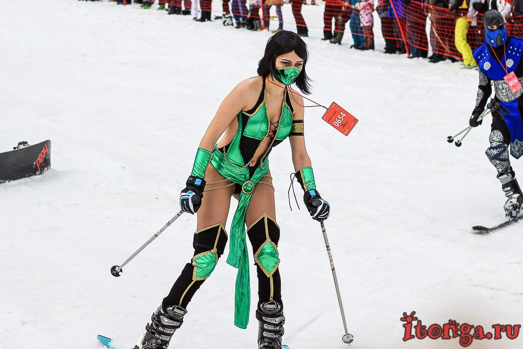 Шерегеш, Грелка фест, Grelka Fest, спуск в карнавальных костюмах,