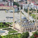 Мечеть Сердце Чечни, Грозный-Сити и храм Архангела Михаила в Грозном