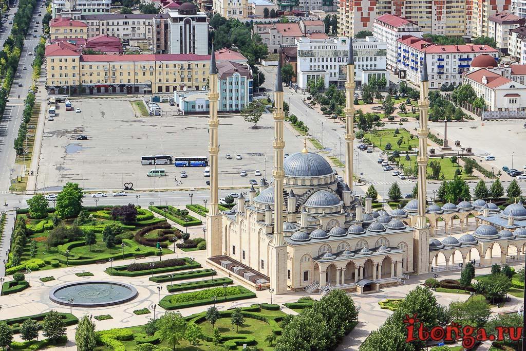 мечеть, Сердце Чечни, Грозный, Грозный Сити, Чечня, храм,