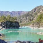 Горный Алтай: Чемальская ГЭС, слияние Катуни и Чемала