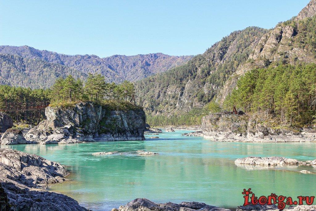 Горный Алтай, Чемальская ГЭС, слияние Катуни и Чемала, Чемал,