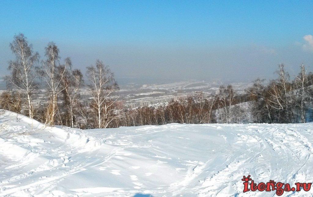 гора Маяковая, горнолыжный комплекс, Новокузнецк, Запсиб,