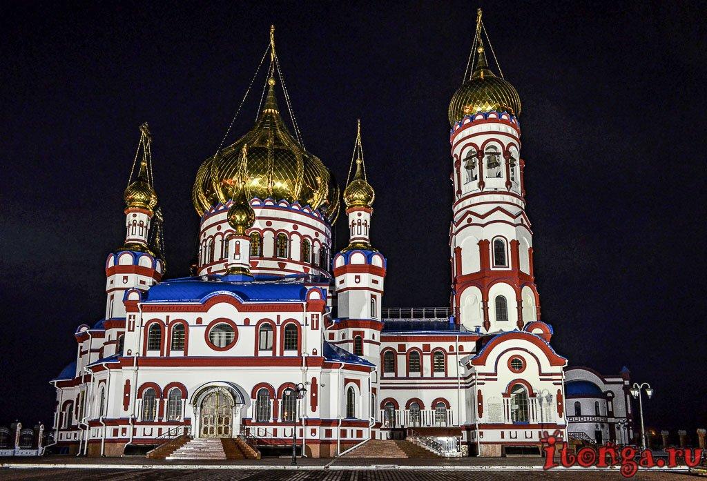 Ночной Новокузнецк, Новобайдаевка, Храм,