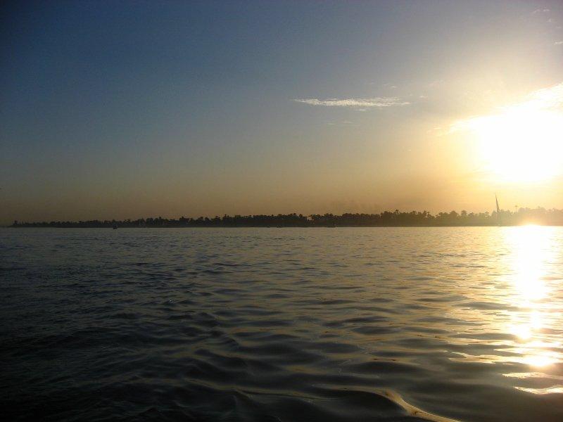 Нил, Луксор, закат