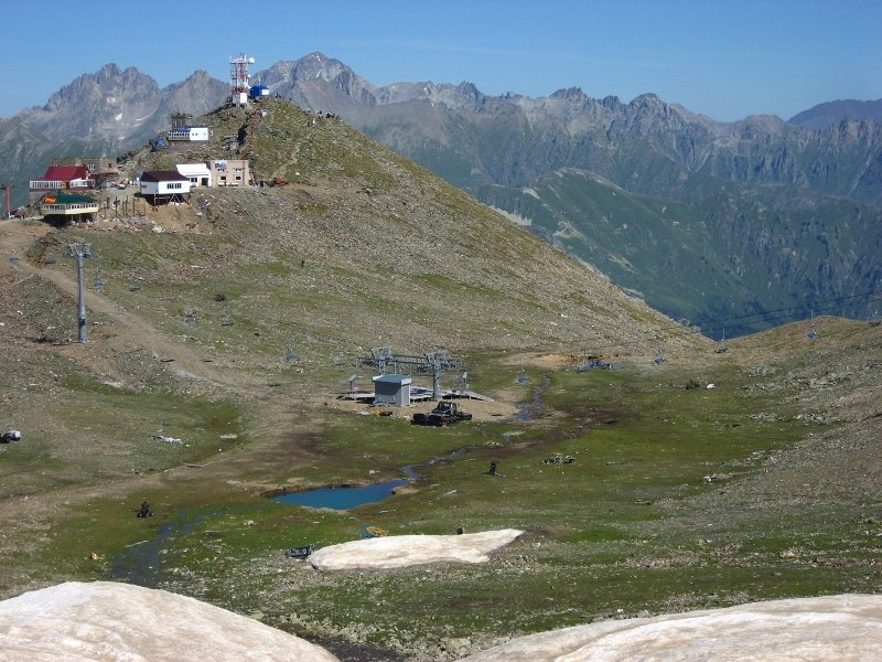 Домбай летом, Домбайская поляна, Кавказ