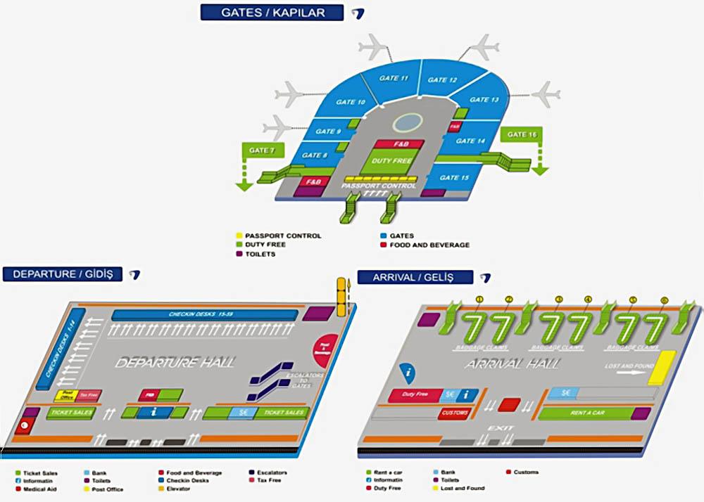 аэропорт, Антали, Анталья, схема, онлайн табло,