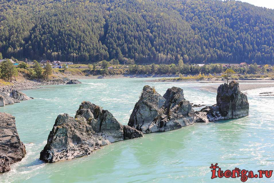 горная река Катунь, Алтай, стрелы Сартакпая, что посмотреть на Алтае,