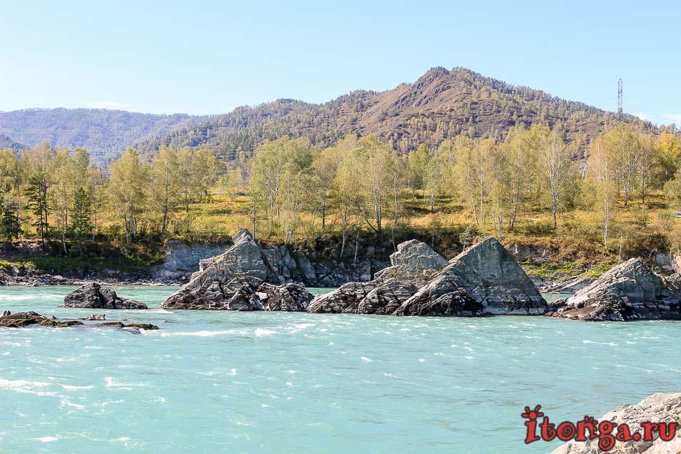 горная река Катунь, Алтай, стрелы Сартакпая,