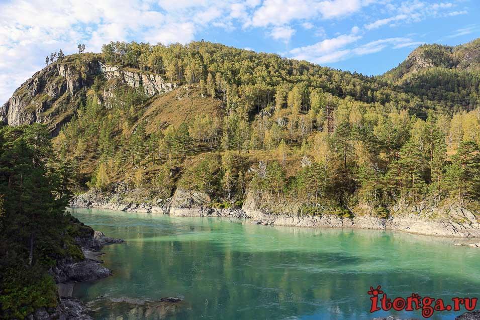 река Катунь, бирюзовая Катунь, Горный Алтай,