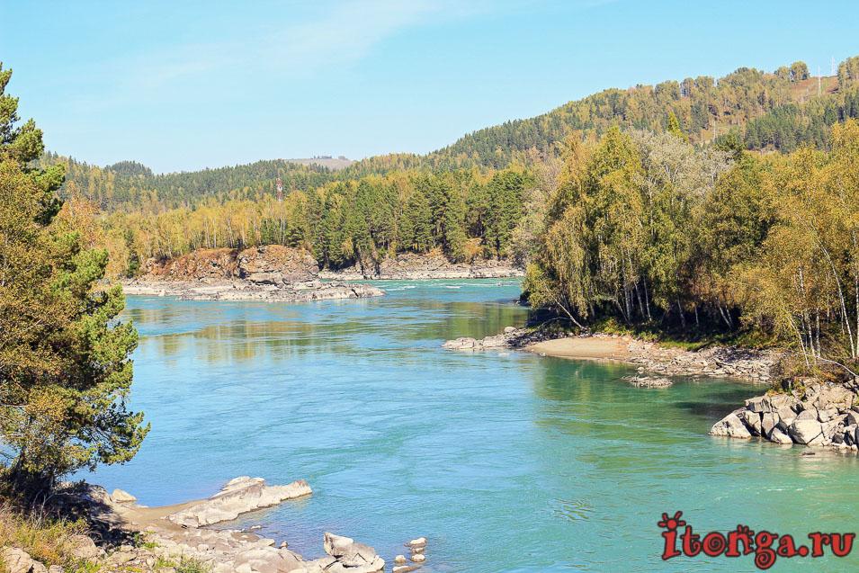 река Катунь, Горный Алтай, бирюзовая река,