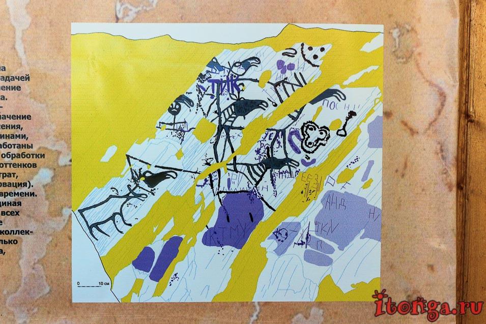 наскальные рисунки Азии, музей, живопись,