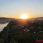 Отдых на Кондоме за городом Новокузнецк и закат на мосту