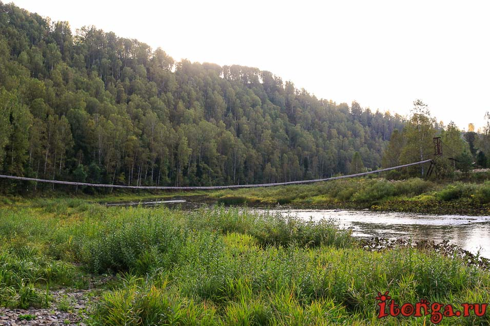 река Тельбес, мост,