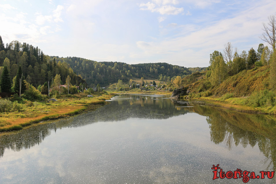 Тельбес - посёлок, озеро и заброшенный рудник - Реки, Пещеры, Осень, Озёра, Горная Шория - sheregesh, siberia, russia, kuzbass