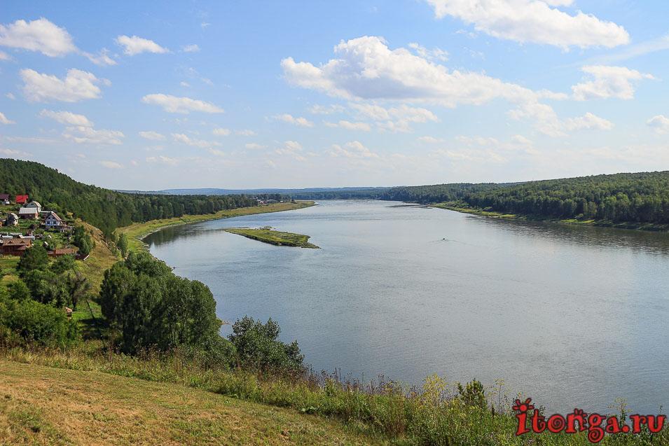 река Томь, Кемеровская область