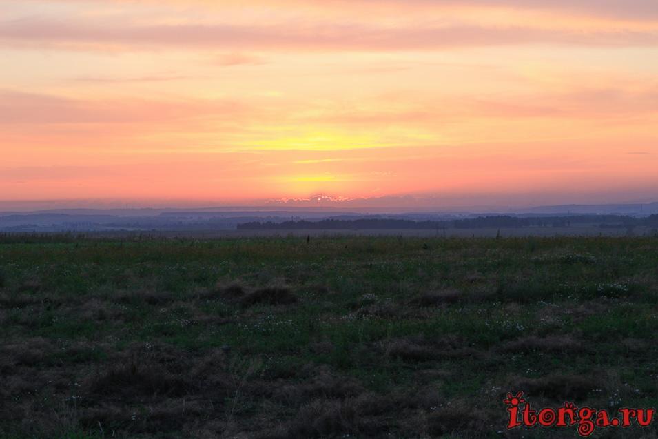 закат, Сибирь, Кемеровская область