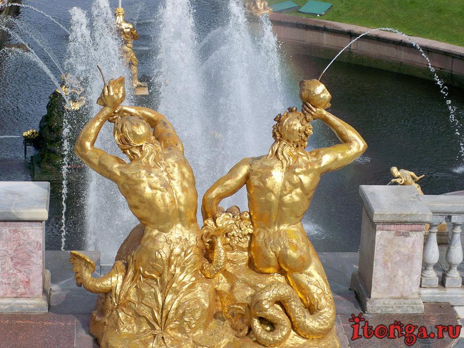 большой каскад, дворцово-парковый ансамбль петергоф, фонтан