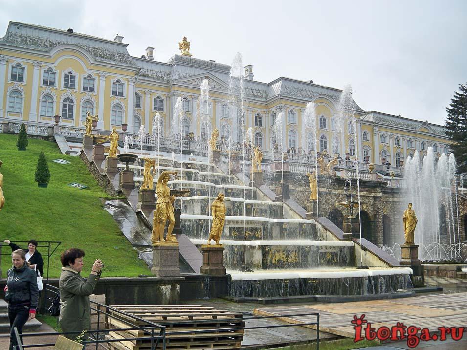 большой каскад, дворцово-парковый ансамбль петергоф, Большой петергофский дворец