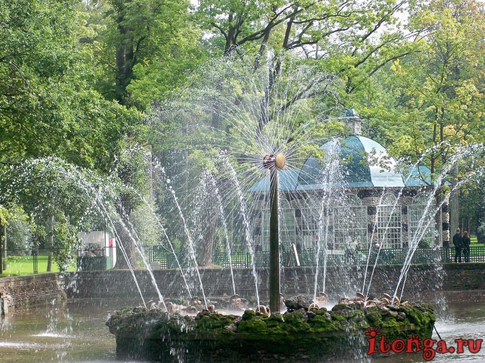 дворцово-парковый ансамбль петергоф, фонтан солнце, нижний парк