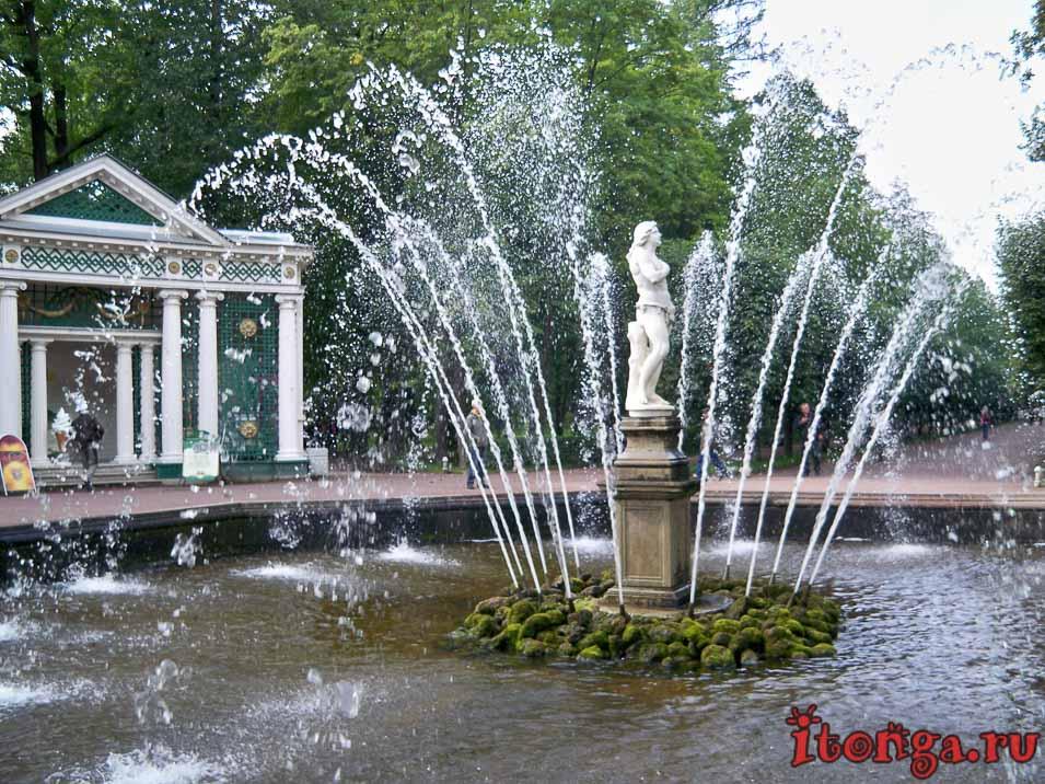фонтан Адам, нижний парк, дворцово-парковый ансамбль петергоф
