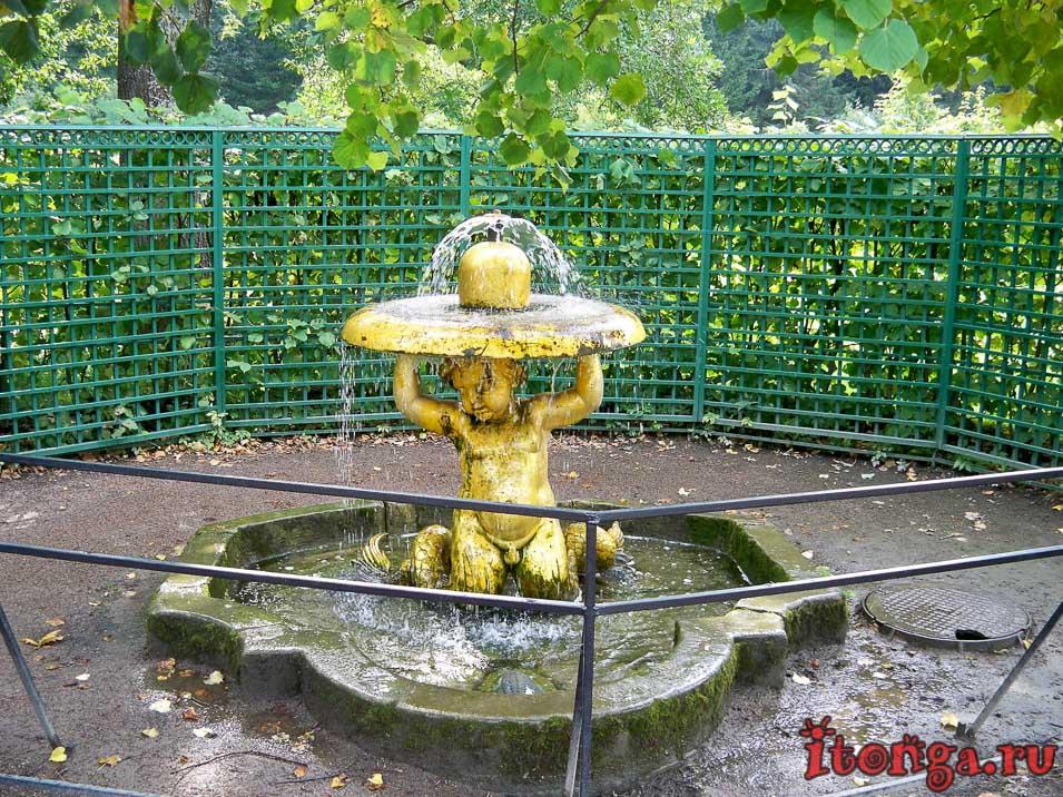 фонтан, тритоны-колокола, клоши, дворцово-парковый ансамбль петергоф
