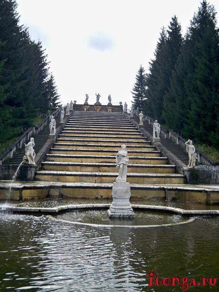 фонтан, золотая гора, дворцово-парковый ансамбль петергоф