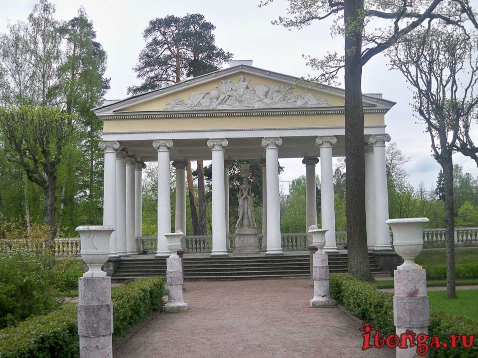 павловск, парк, павильон трех граций
