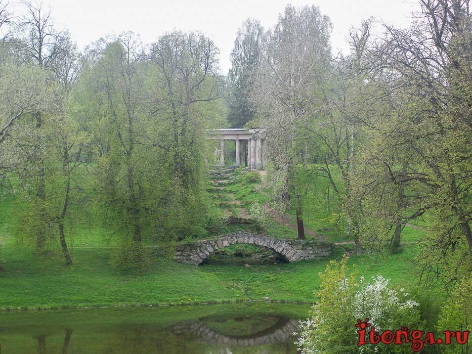 павловск, парк, колоннада Аполлона