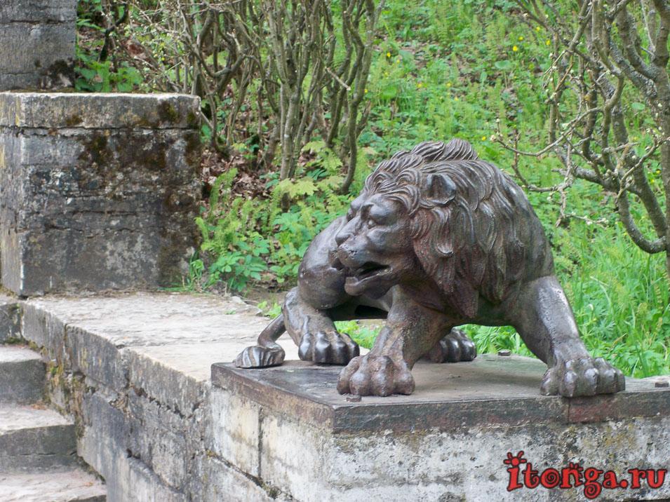 павловск, парк, львы