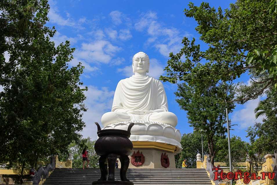 пагода Лонг Шон, белый Будда, Нячанг, большой Будда,