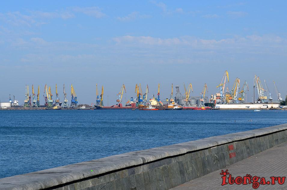 набережная, морской порт, азовское море
