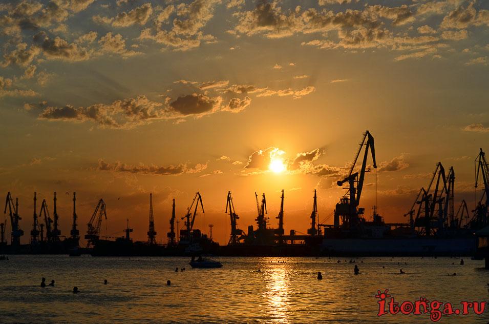 азовское море, набережная, морской порт