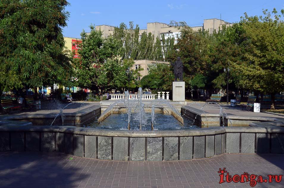 фонтан, азовский проспект, парк Пушкина