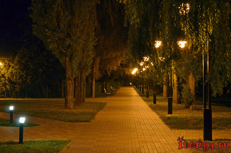 белгород, ночью, парк победы