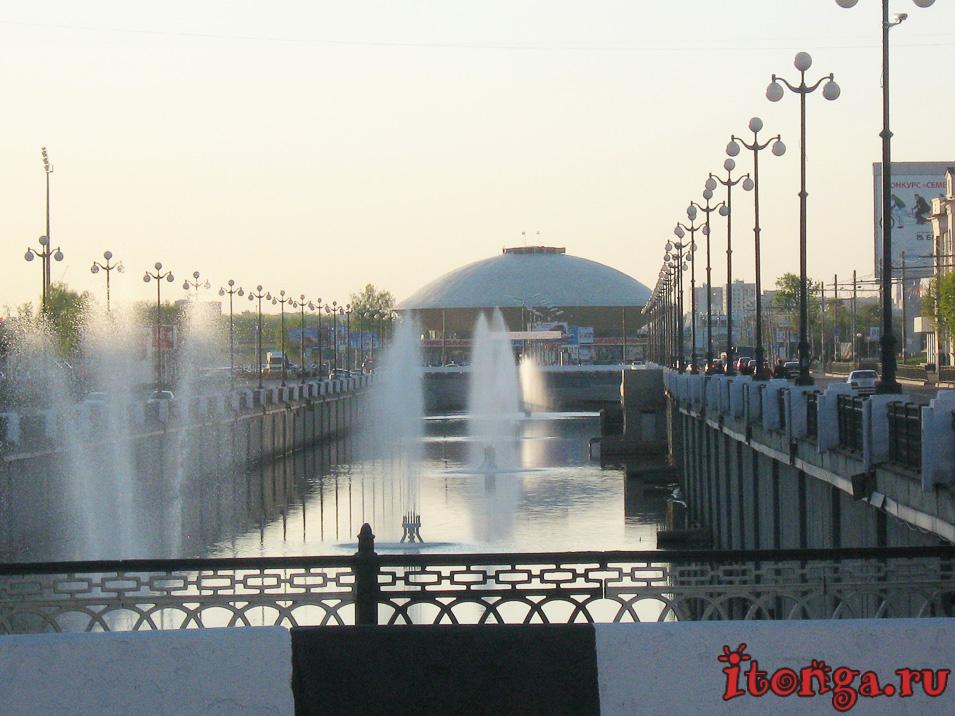 Казань, канал Булак, площадь Тысячелетия