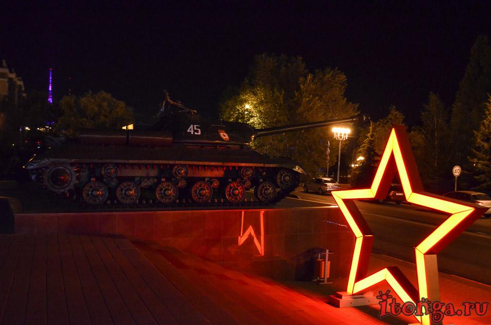 диорама, курская битва, белгород ночью