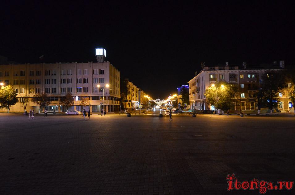 соборная площадь белгорода, белгород ночью