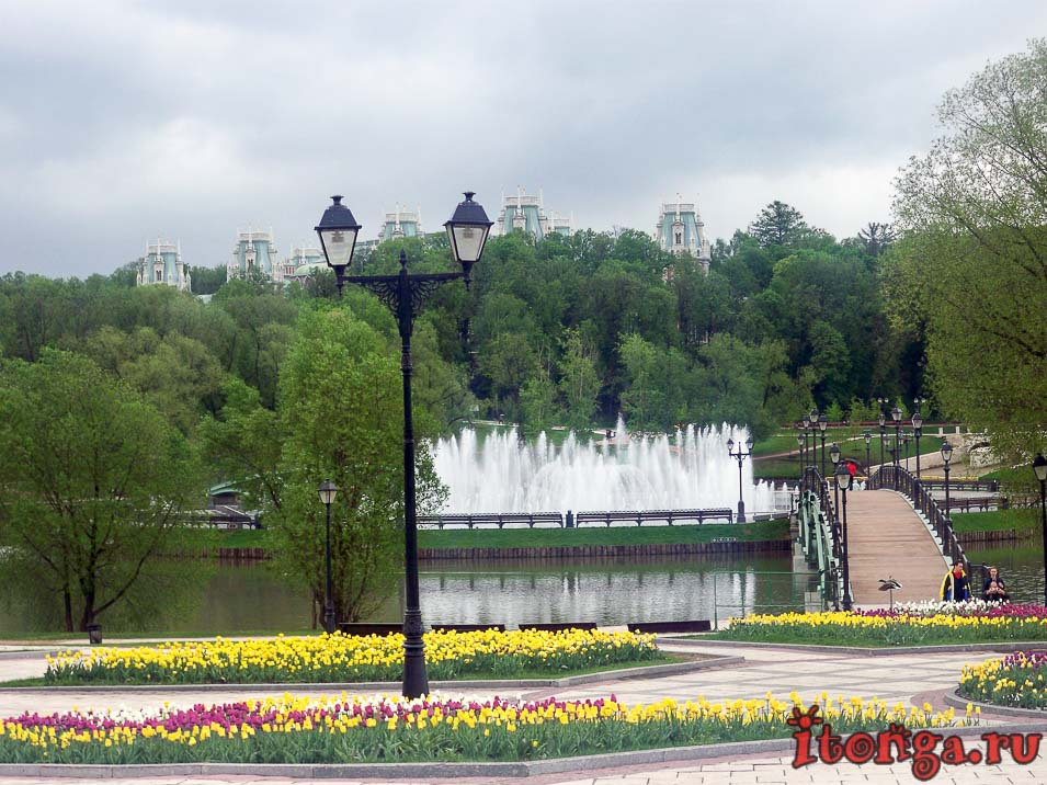 дворцово-парковый ансамбль царицыно, москва, фонтан