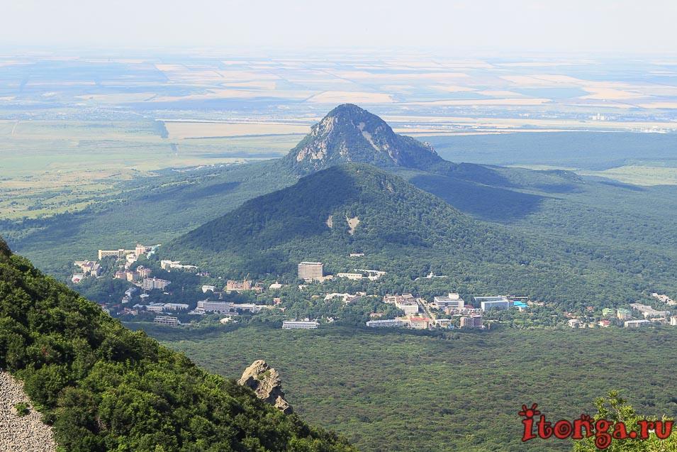 гора Железная, Железноводск, вид с Бештау