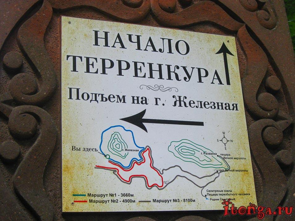 Карта терренкуров Железноводска, схема
