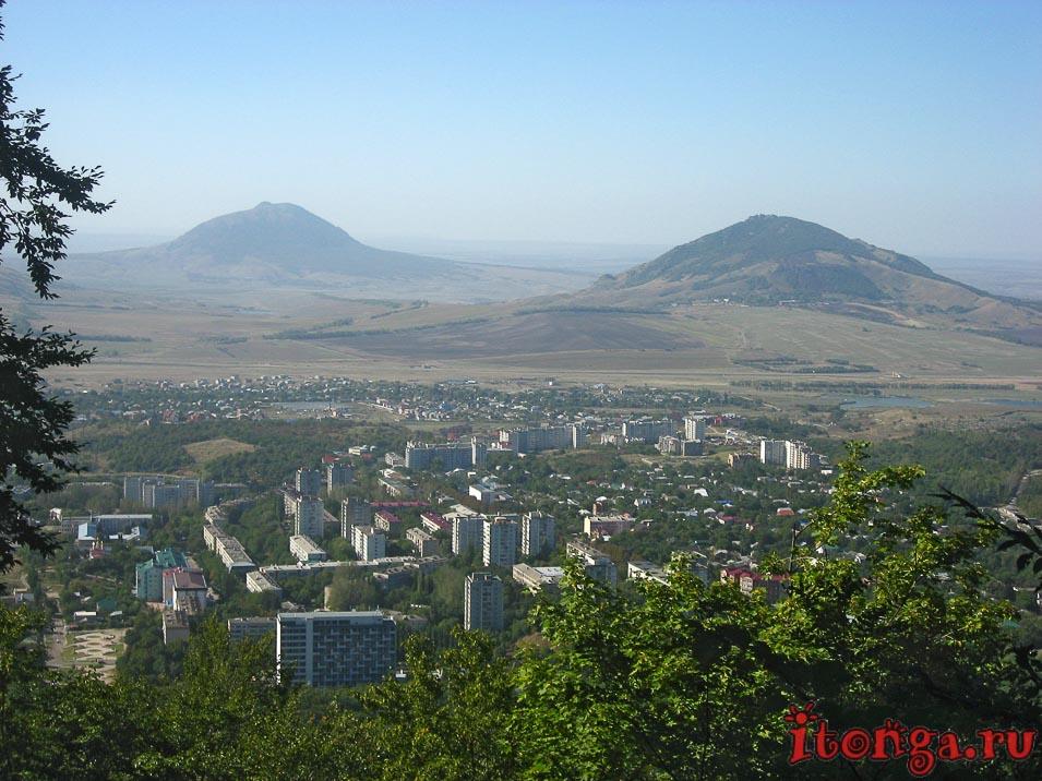 подъём на гору Железная, Железноводск, вид на город