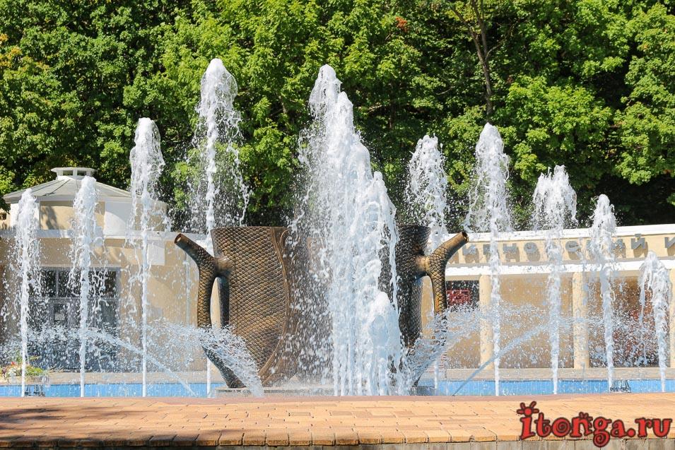 фонтан в Железноводске, кружки, Смирновский источник