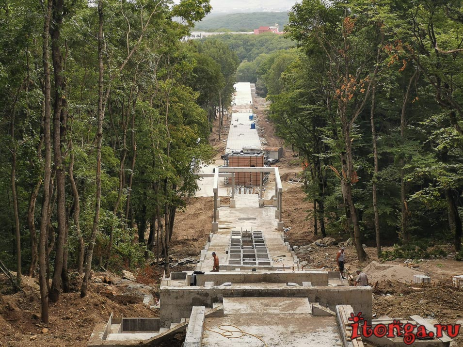 реконструкция каскадной лестницы в Железноводске