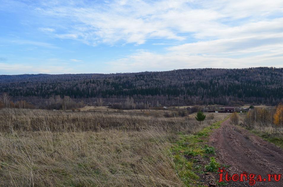 пейзажи сибири фото, осень, поселок мирный