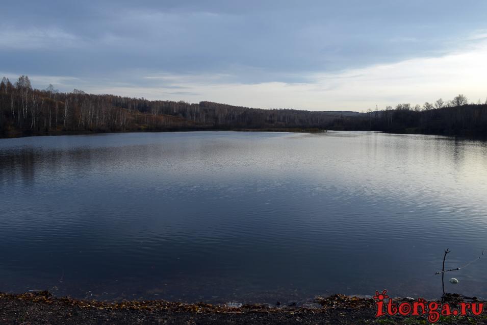 пейзажи сибири фото, поселок тайжина, озеро, осень